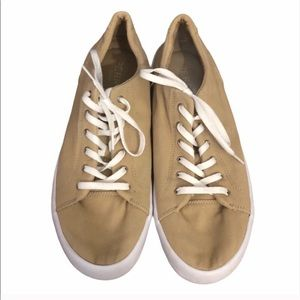 Men's Sperry Tan & White Canvas Sneakers